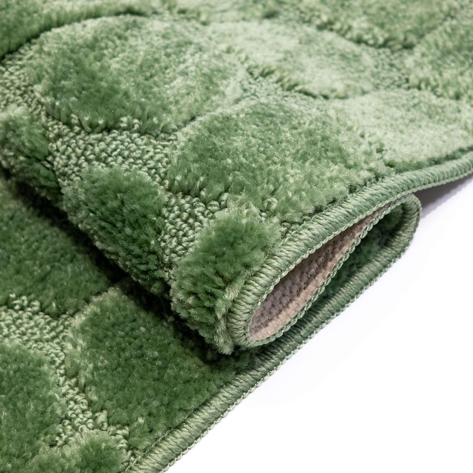 Tappeto ALMA Verde Parure 3 pezzi