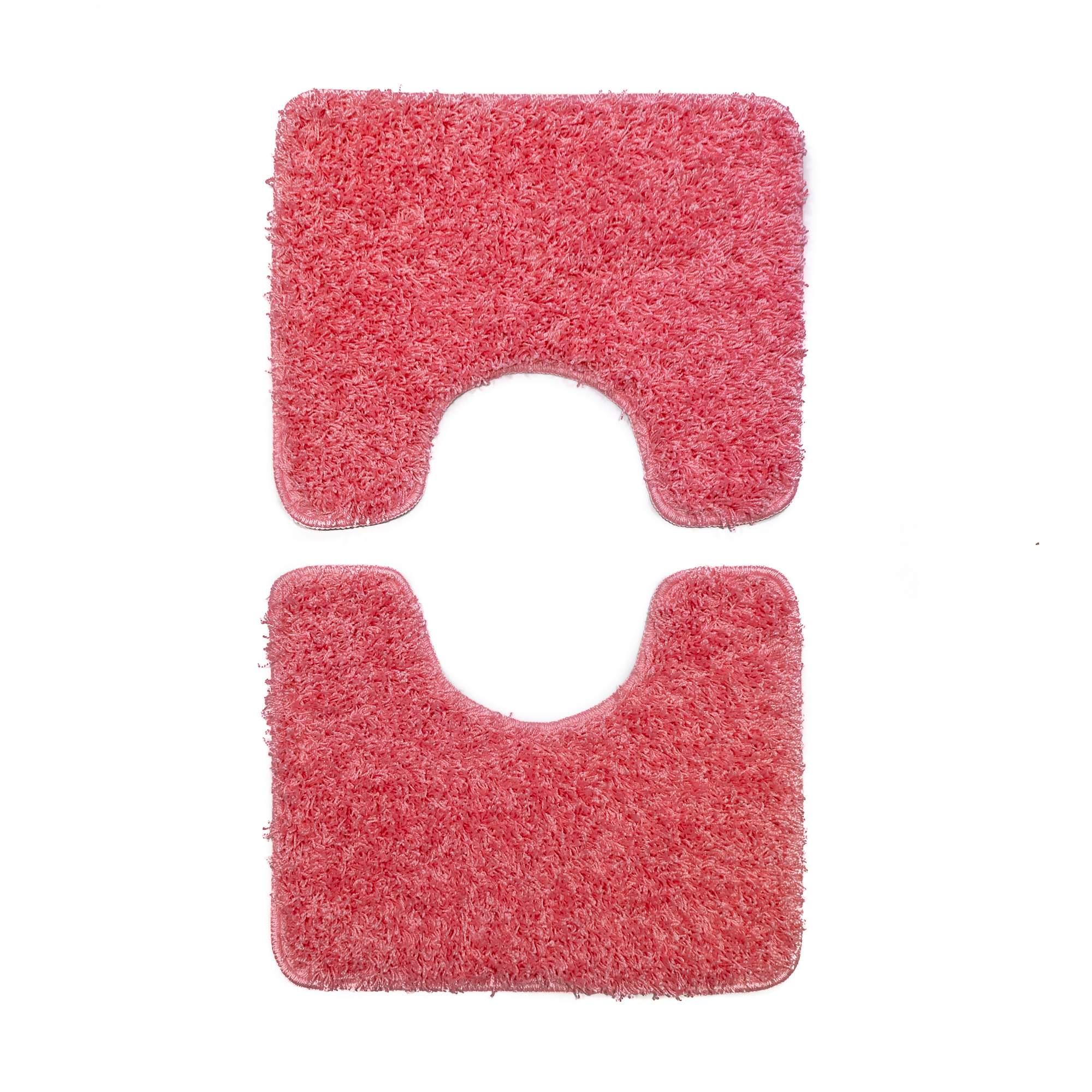 Tappeto SOFT PLAIN Rosa Parure 3 pezzi