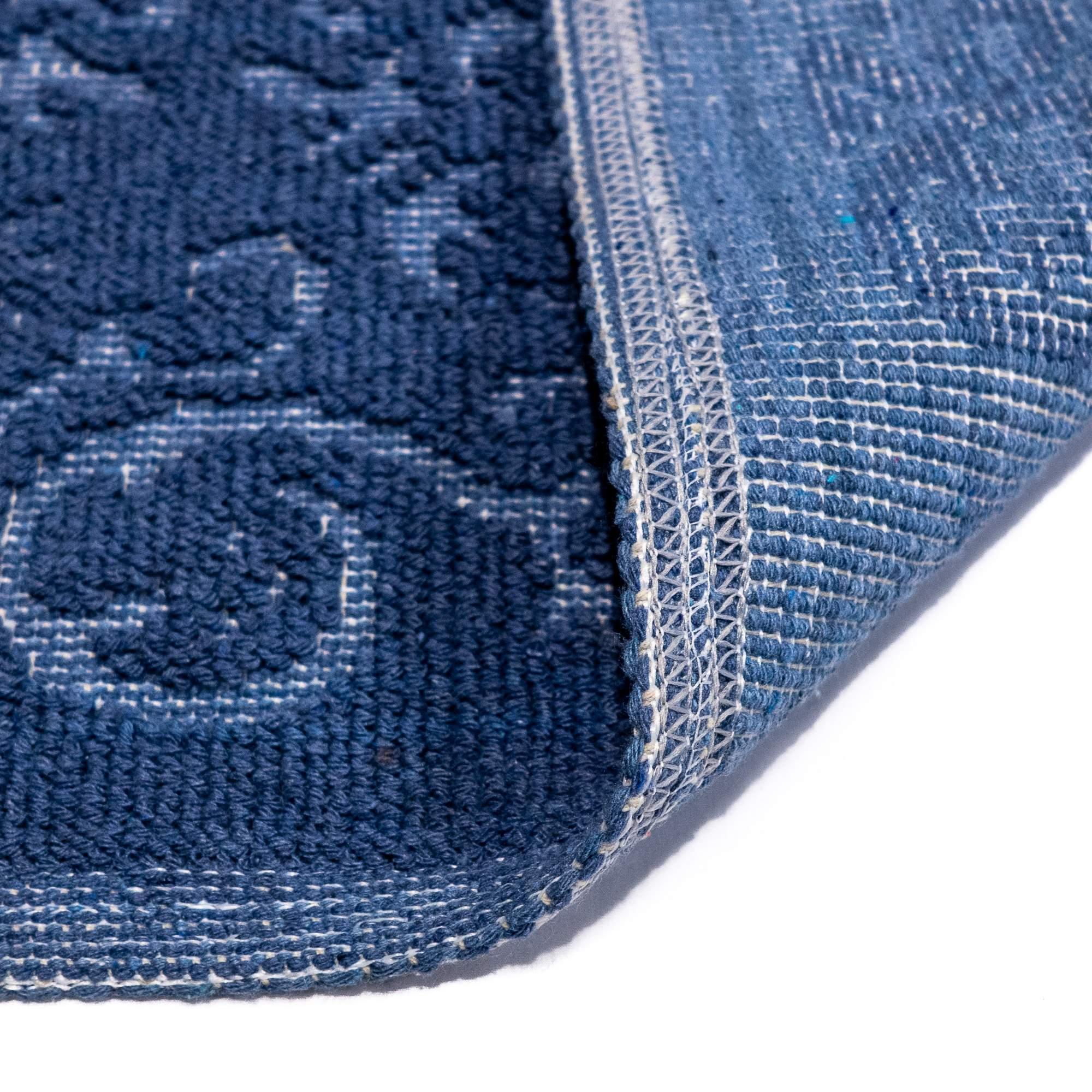 Tappeto Cotone MALAGA Blu