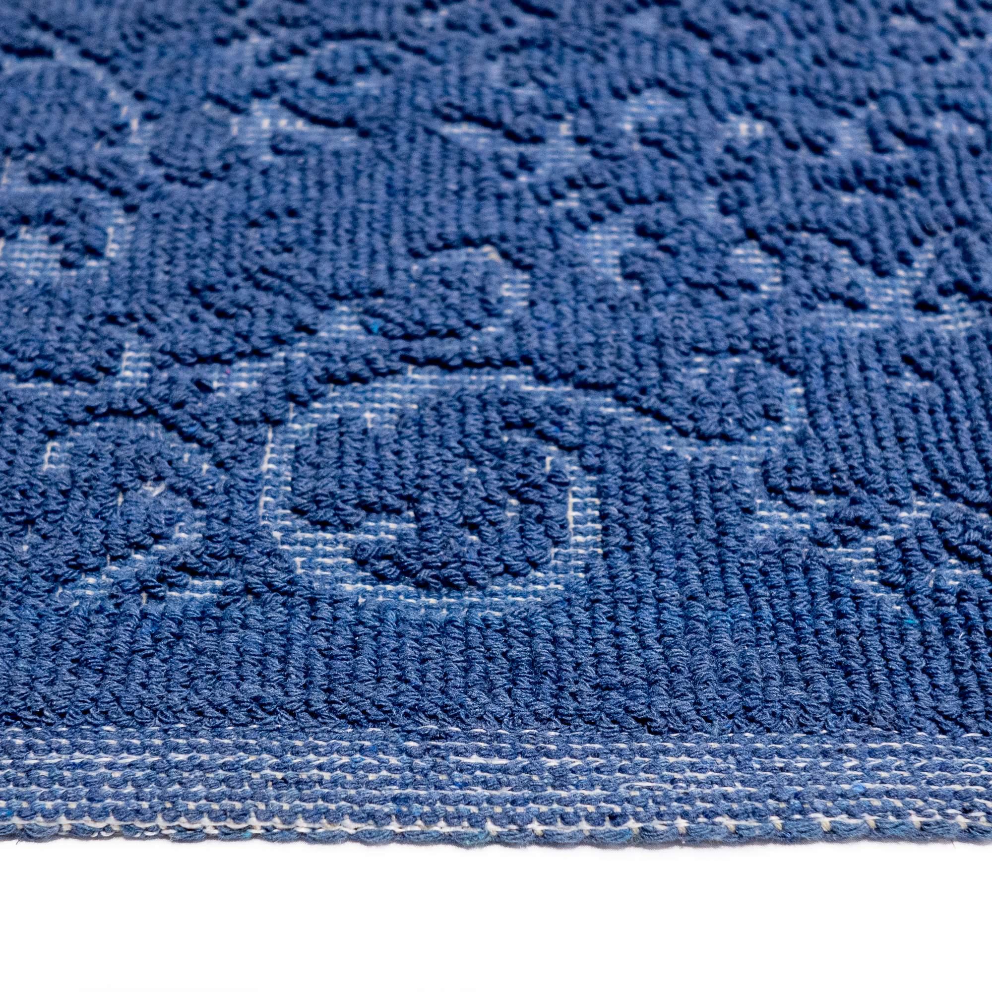 Tappeto Cotone MALAGA Blu SET