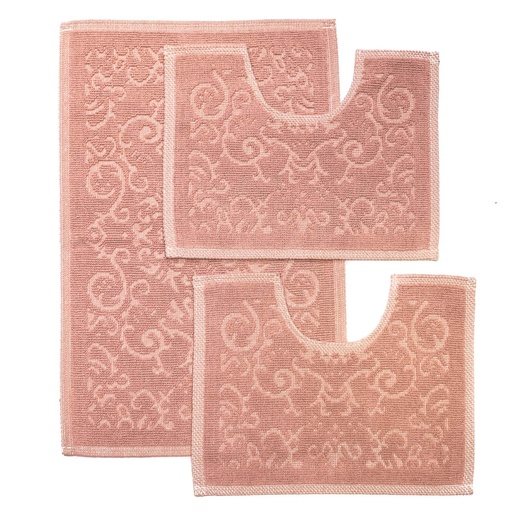 Tappeto Cotone MALAGA Rosa SET