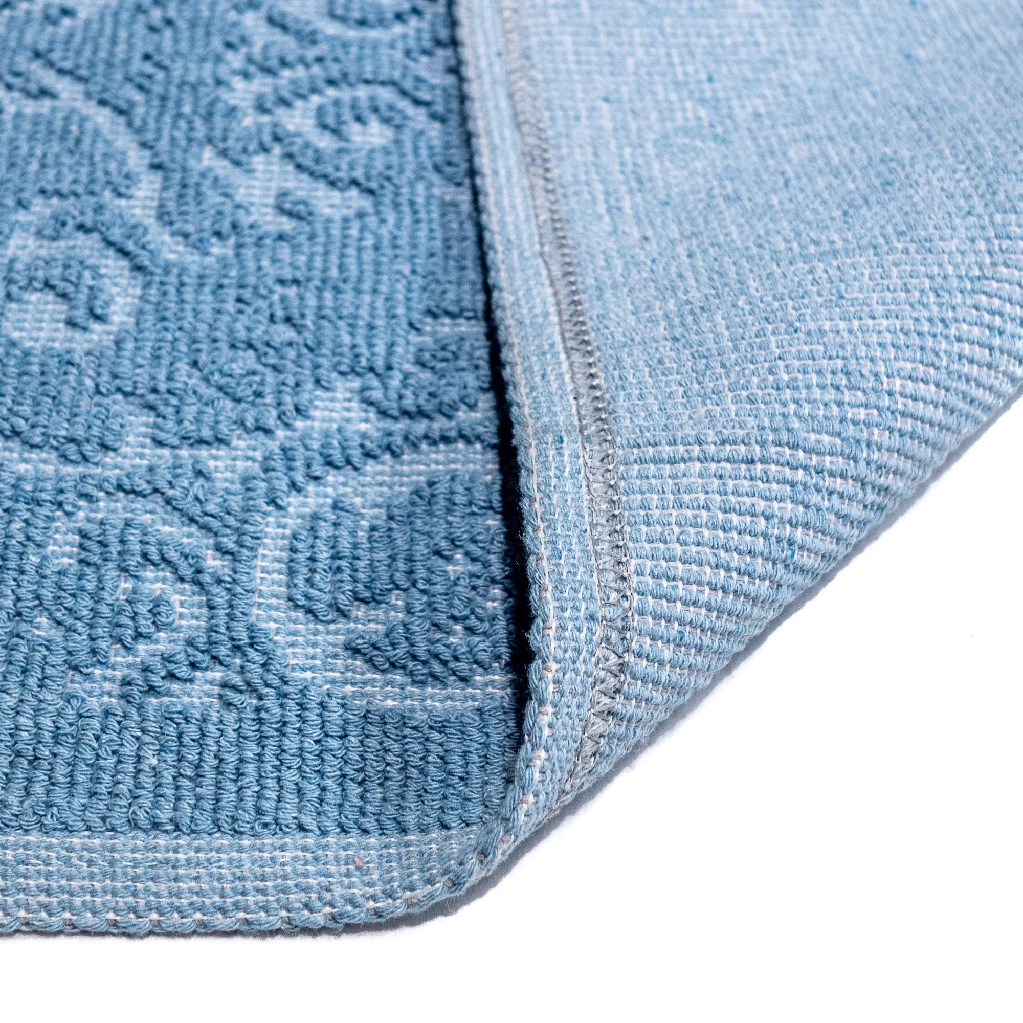 Tappeto Cotone MALAGA Baby Blu SET