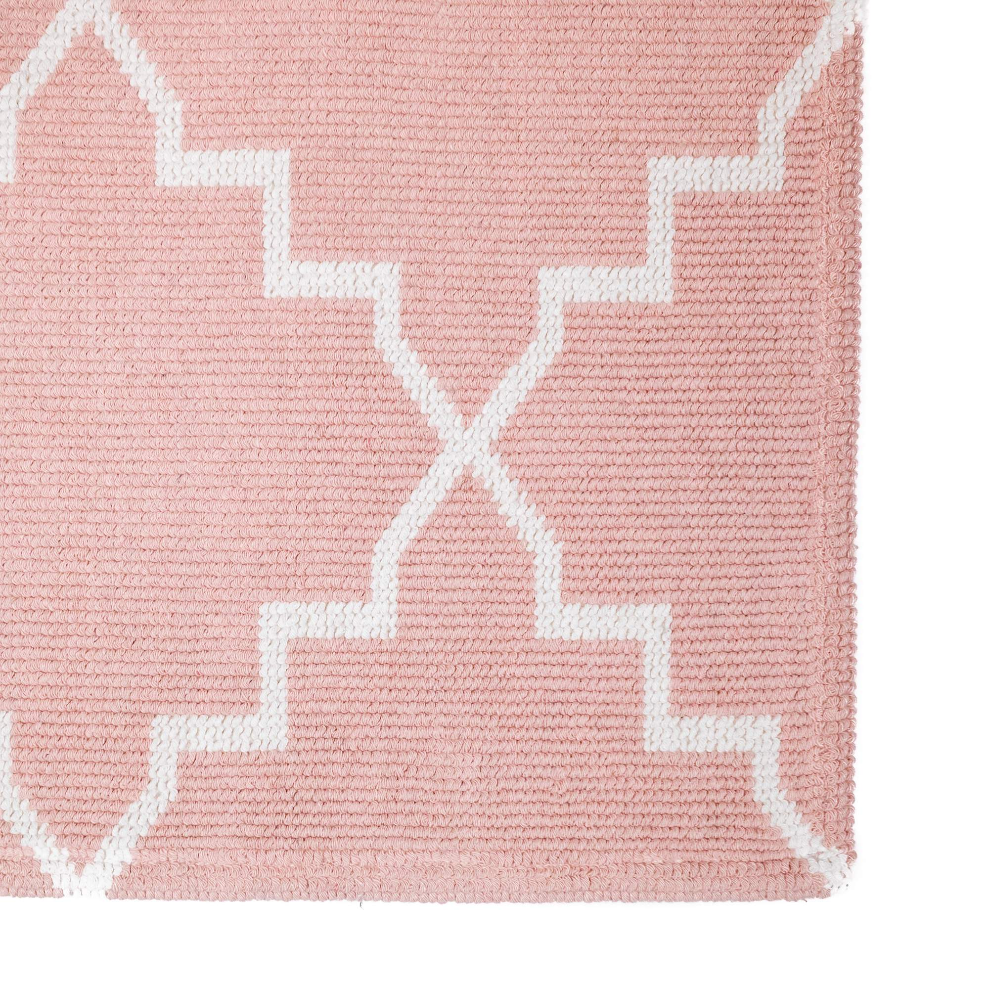 Tappeto Cotone ART DECO Rosa