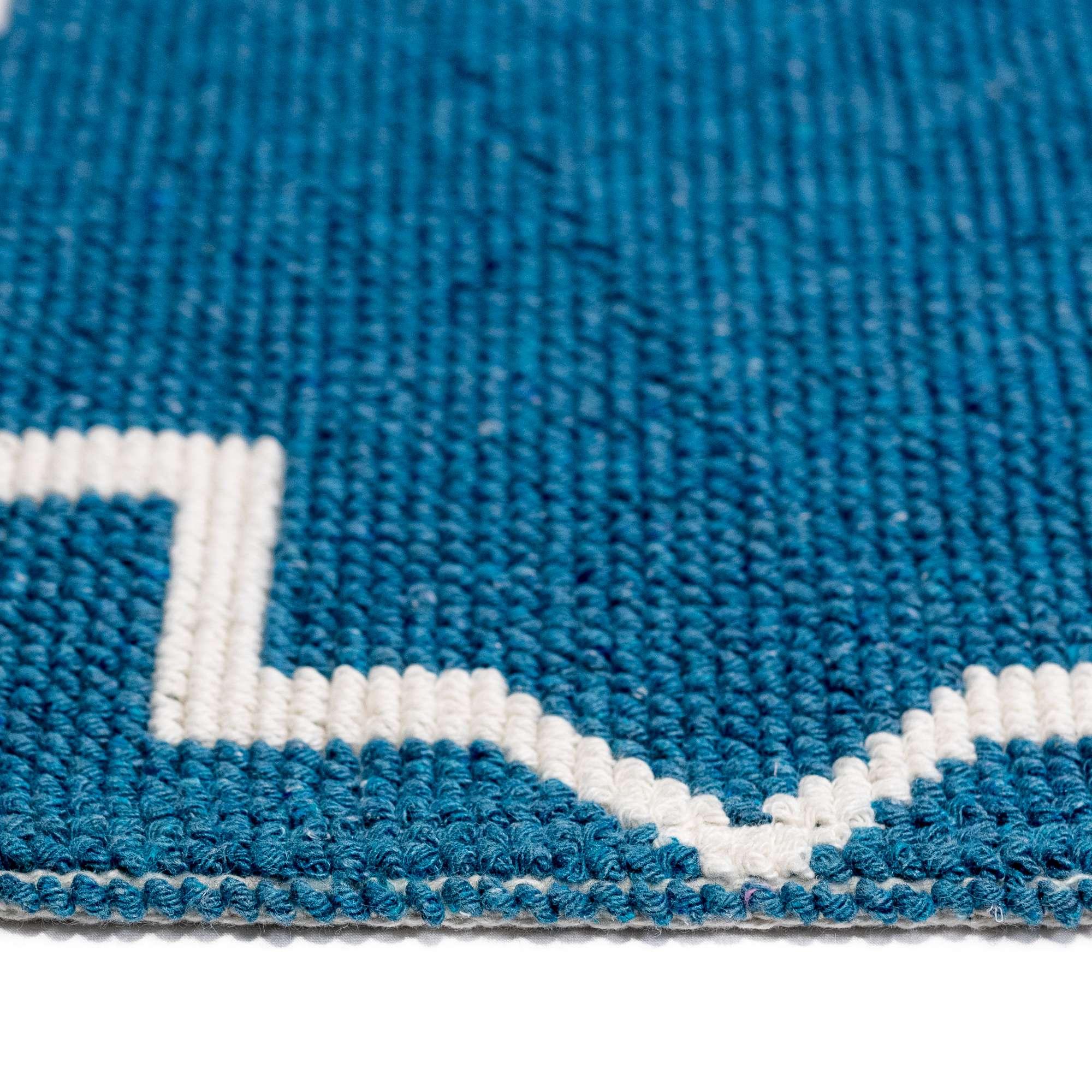 Tappeto Cotone ART DECO Baby Blu