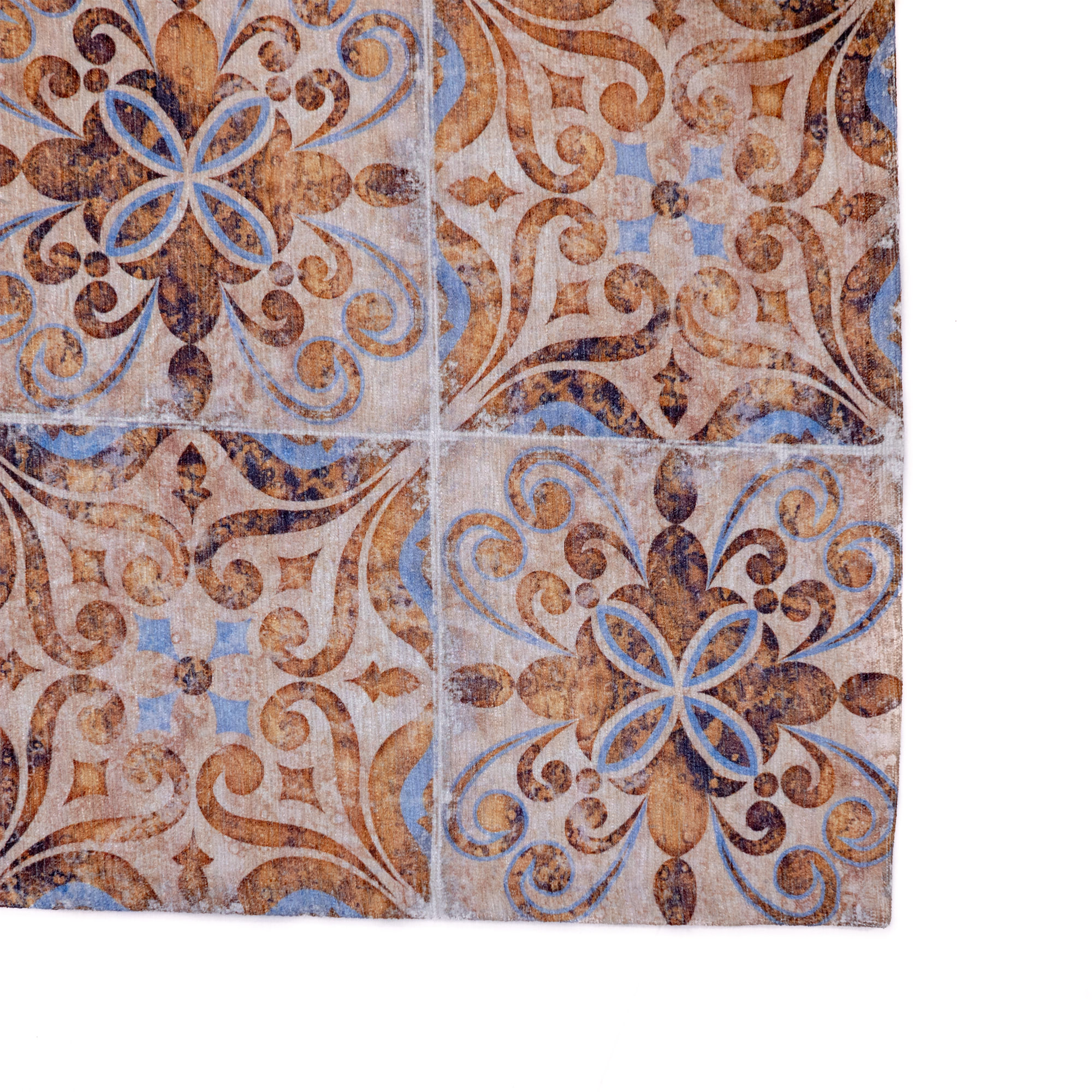 Tappeto Digital Chenille Azulejo C-1857