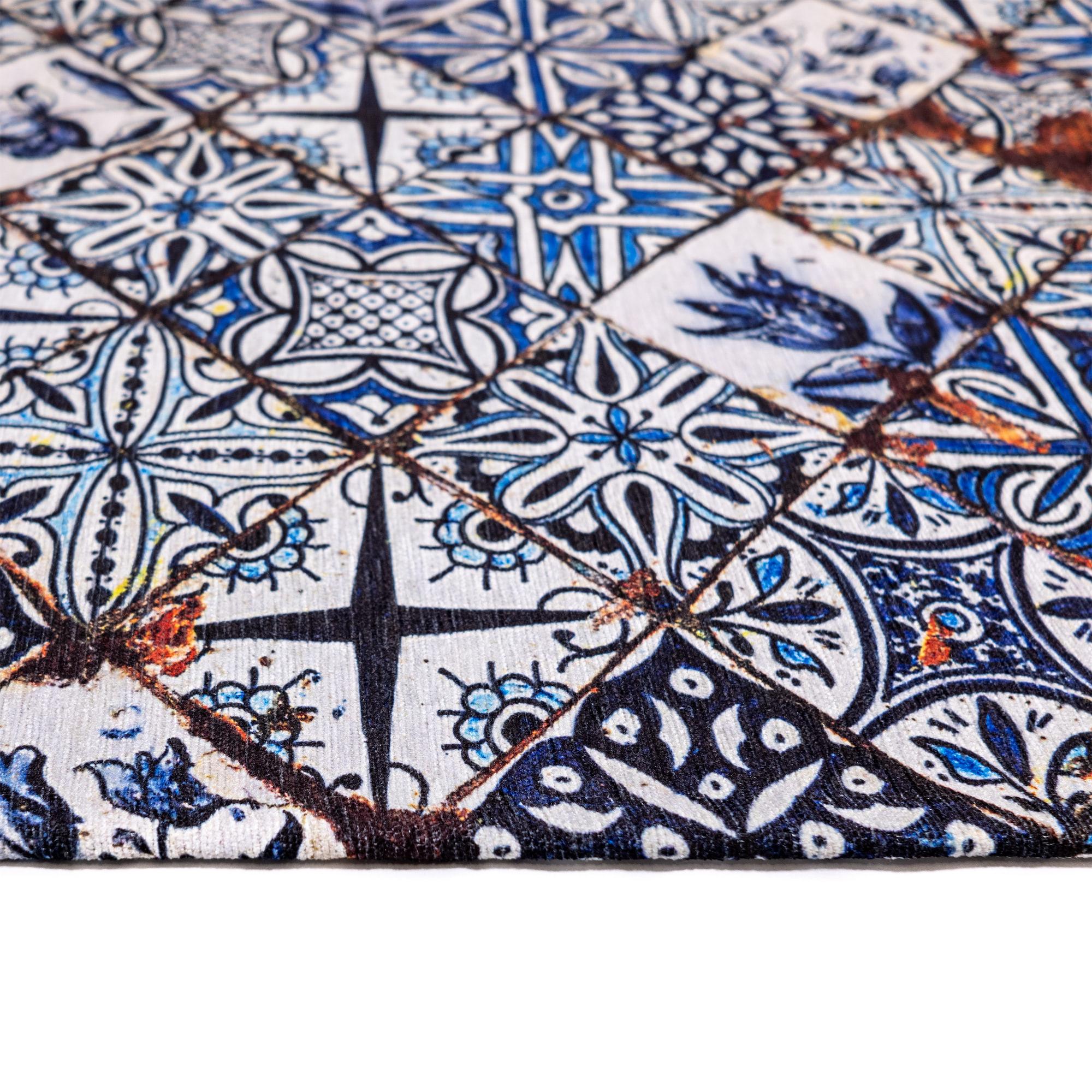 Tappeto Digital Chenille Azulejo C-3725