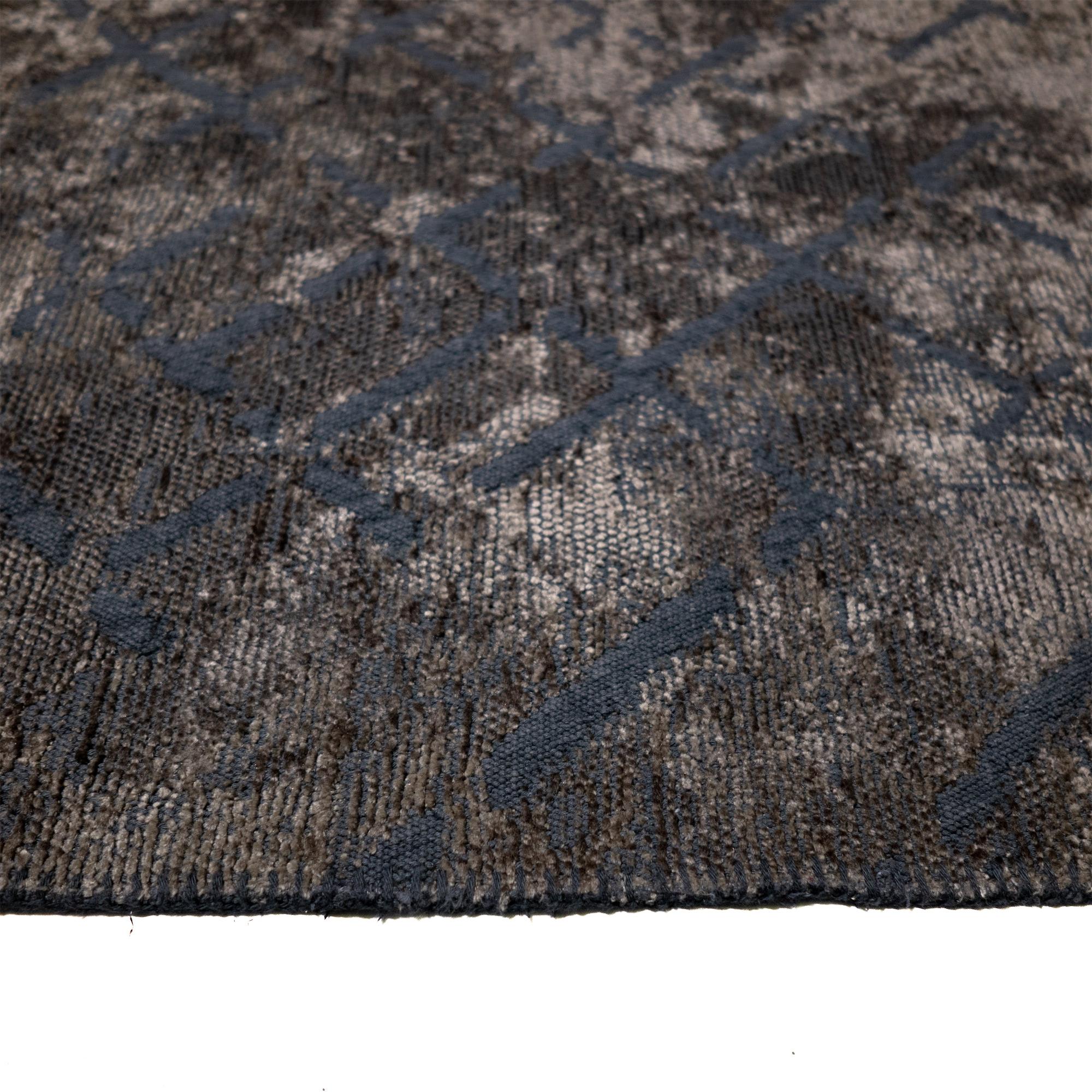 Tappeto Cotone/Ciniglia CRYSTAL BLUE