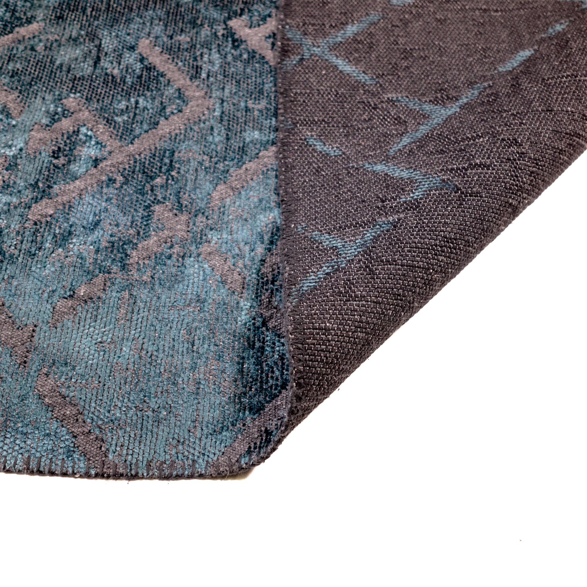 Tappeto Cotone/Ciniglia CRYSTAL PETROL
