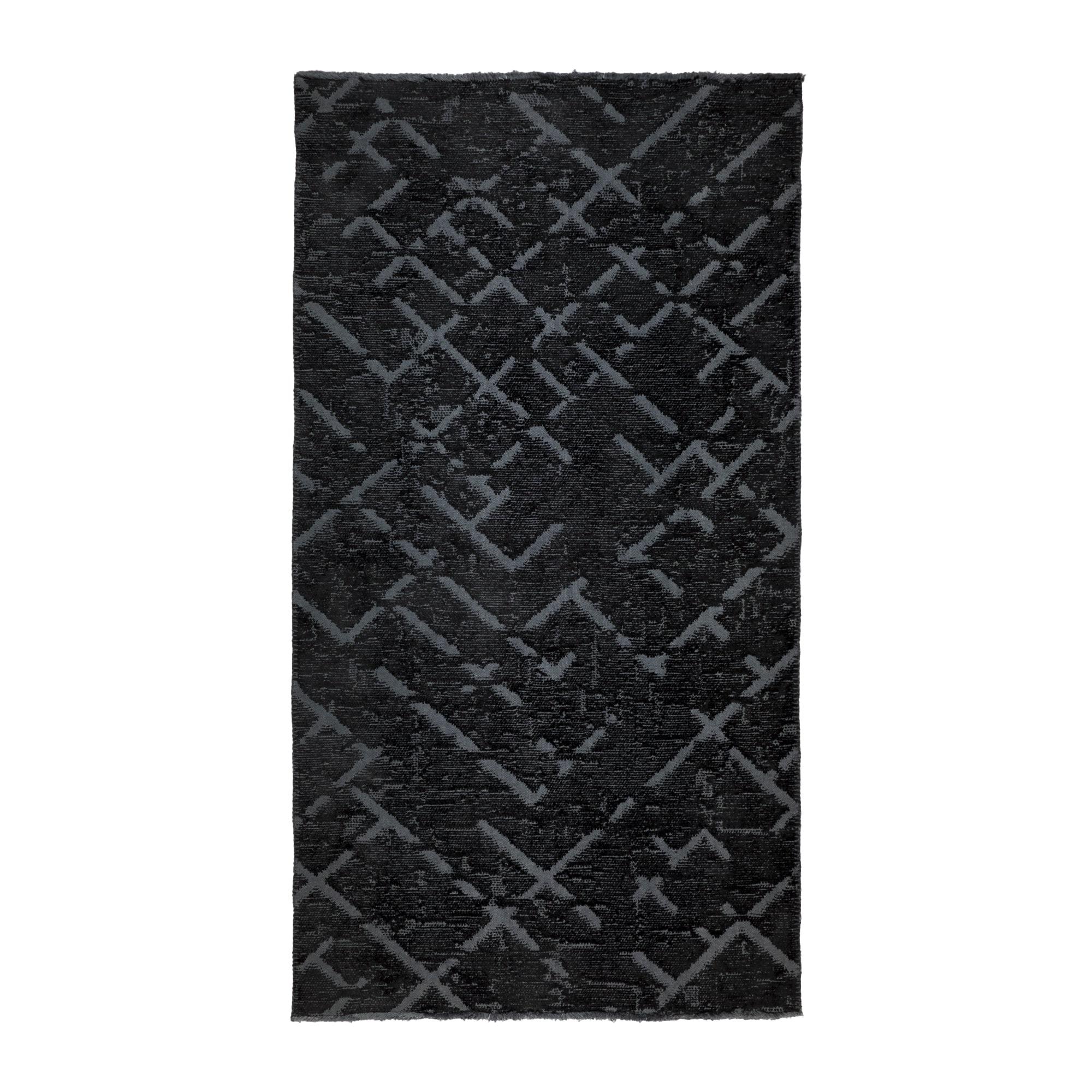 Tappeto Cotone/Ciniglia CRYSTAL BLACK